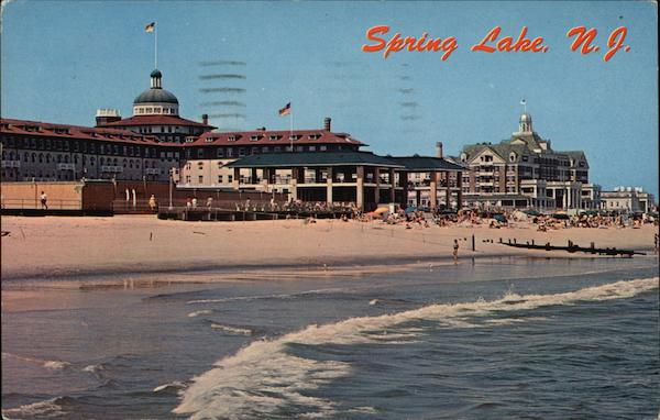 View of the South Pavilion and the Beachfront Spring Lake New Jersey