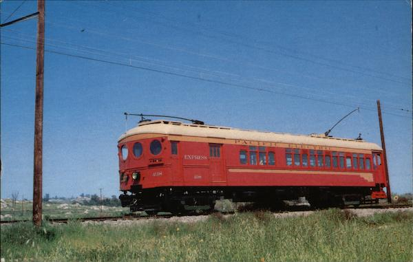 Catalina Special Pacific Electric Big Red Car Trains, Railroad
