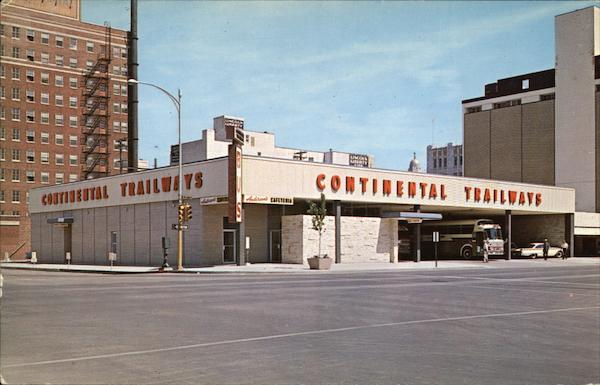 Continental Trailways Bus Depot Lincoln Nebraska