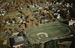 Aerial View of The Athletic Field at Gould Academy