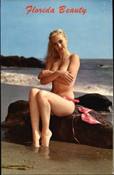 Quick - got a pin? - Topless Blonde on the Beach