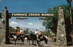 Entrance to Furnace Creek Ranch Postcard