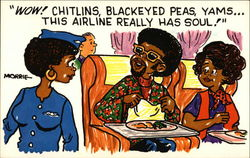 Wow! Chitlins, Blackeyed Peas, Yams...This Airline Really has Soul!
