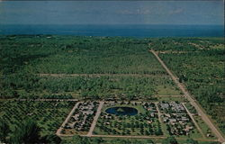 Aerial View of Pink Citrus Trailer Park and Campground