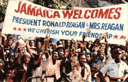 Jamaica Welcomes President Ronald Reagan & Mrs. Reagon