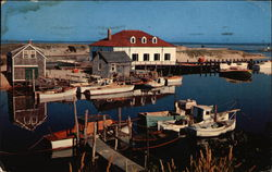 Fishing Boats and U.S. Coast Guard Boathouse