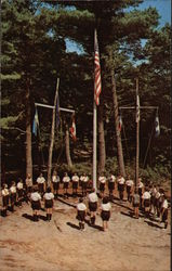 Camp Wind in the Pines - Flag Ceremony