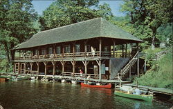 """The Boat House"" on Lake George"