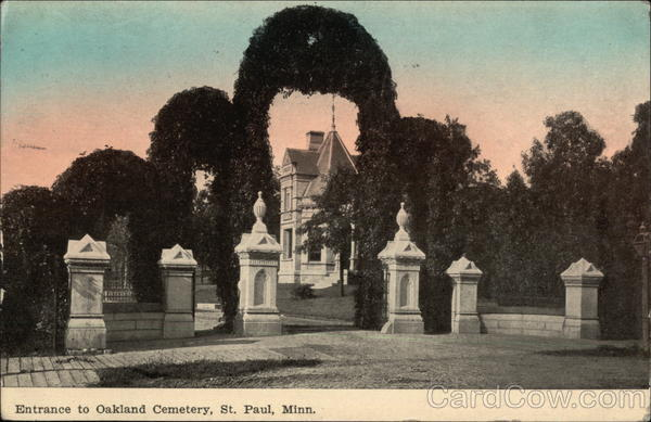 Entrance to Oakland Cemetery St. Paul Minnesota