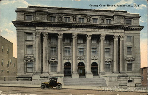 Street View of County Court House Schenectady New York