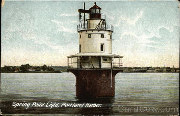 Spring Point Light at Portland Harbor Lighthouses