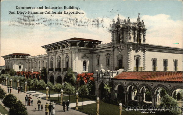 Commerce and Industries Building 1915 Panama-California Exposition