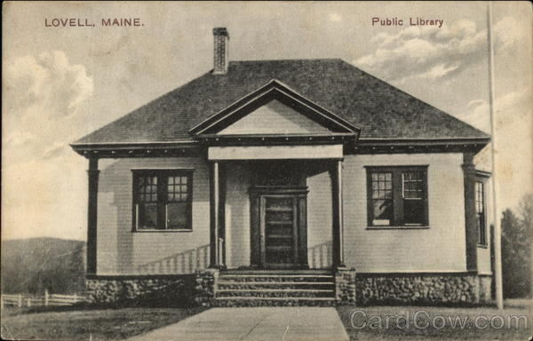 Public Library Building Lovell Maine