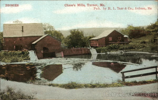 View of Chase's Mills Turner Maine