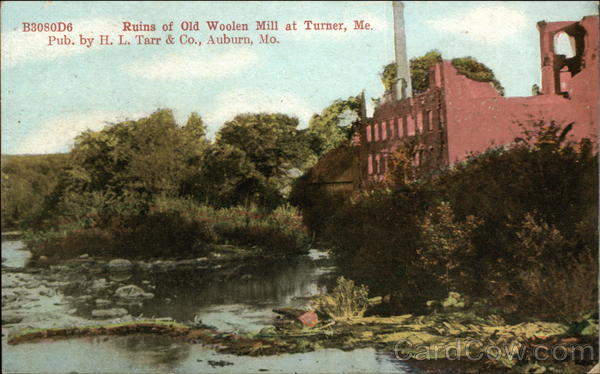 Ruins of Old Woolen Mill Turner Maine