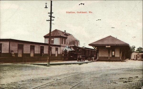 Railroad Station Oakland Maine Depots