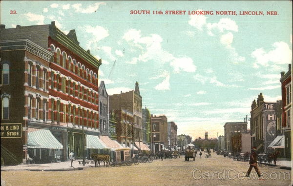 South 11th Street Looking North Lincoln Nebraska