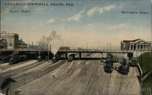 Passenger Terminals - Union Depot and Burlington Depot Omaha Nebraska