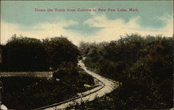 Down the Track from Coloma to Paw Paw Lake Postcard