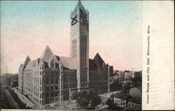 Court House and City Hall Postcard