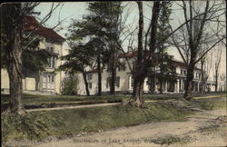 Residences on Lake Avenue Postcard