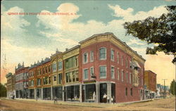 Corner of Main and Broad Streets Postcard