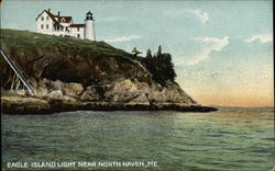 View from the Water of Eagle Island Light