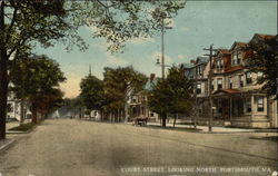 Court Street. Looking North Postcard