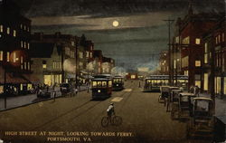 High Street at Night, Looking Towards Ferry