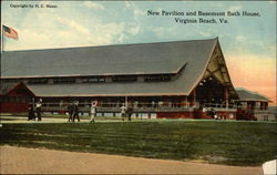 New Pavillion and Basement Bath House Postcard
