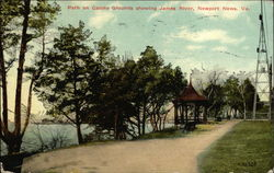 Path on Casino Grounds showing James River