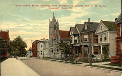 32nd Street showing First Presbyterian Church and Y.M.C.A