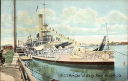 USS Puritan at Navy Yard