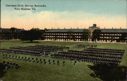 Garrison Drill and Marine Barracks Postcard