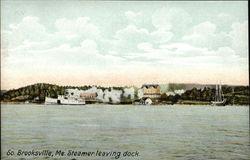 Steamer Leaving Dock