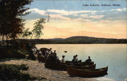 Canoes on the Shore of Lake Auburn