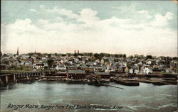 Bangor from East Bank of Penobscot River