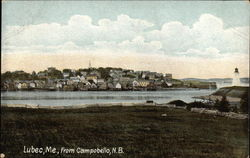 View of Lubec from Campobello, NB Postcard