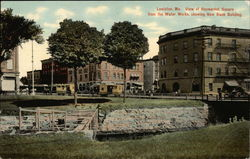 View of Haymarket Square from the Water Works, showing New Bank Building