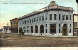 National S. & L. Bank, Coombs Block and Post Office Postcard