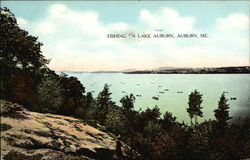 Fishing on Lake Auburn