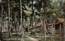 Greenleaf's Camps on Sugar Island Postcard