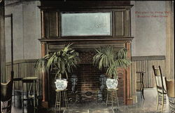 Rangeley Lake House - Fireplace in Dining Room