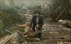 Hunter Skinning a Deer