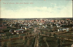 Town View from the Capitol in 1875