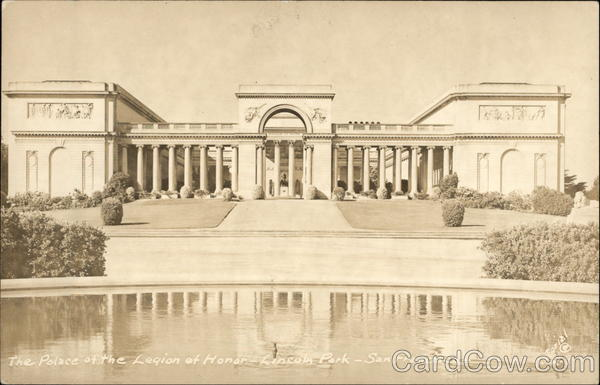 The Palace of the Legion of Honor, Lincoln Park San Francisco California