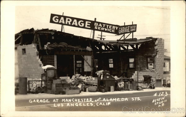 Garage at Manchester and Alameda Sts Los Angeles California