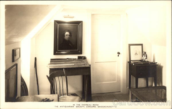 In the Thoreau Room, The Antiquarian Society Concord Massachusetts