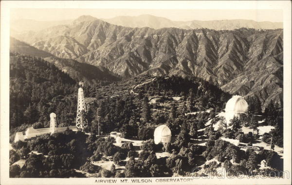 Air View of Mt. Wilson Observatory Los Angeles California