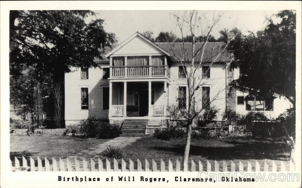 Birthplace of Will Rogers Claremore Oklahoma